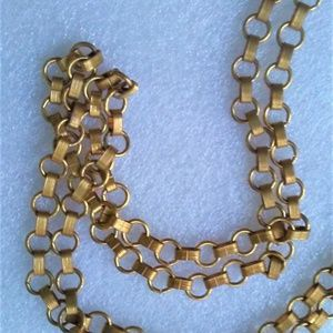Jewelry - Beautiful Estate Brass Flapper Type Necklace